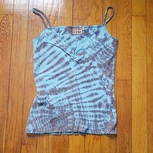 6b7f2a687038d Gypsy Rose blue tie-dye tank top